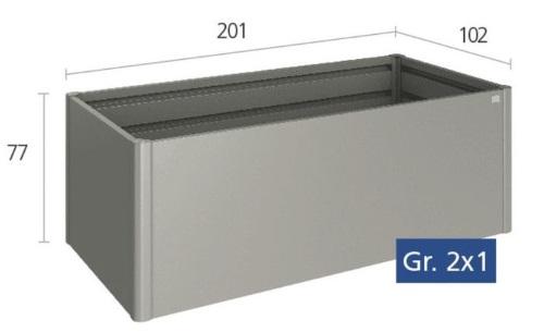 Biohort Hochbeet Gr 2x1 Quarzgrau Metallic Biohort