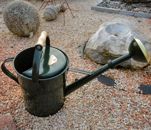 Gießkanne brombeer 0,8 l Zink verzinkt Zinkgießkanne Metall