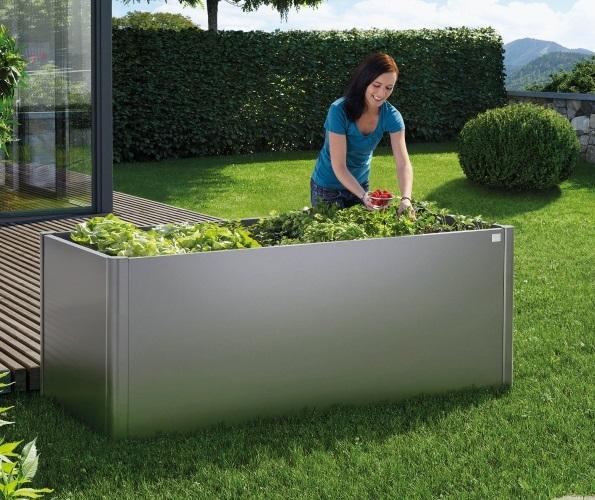 Biohort Hochbeet Gr 2x2m In Dunkelgrau Metallic Biohort